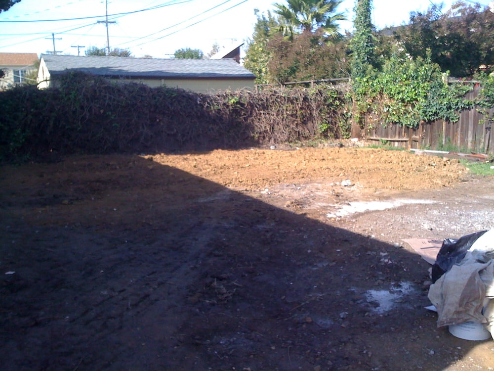 residential landscaping before